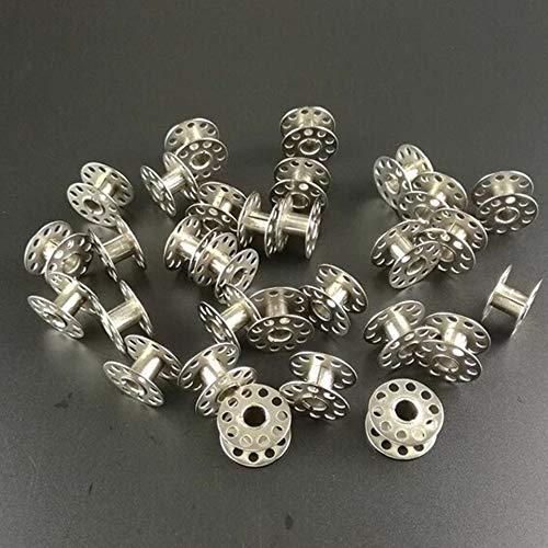 Duradero Máquina de Coser Spool 20pcs Herramienta de Bobina de Metal Accesorios de bobinado de Acero Inoxidable Universal Multifuncional Estable (Color : 20pcs Bobbin)