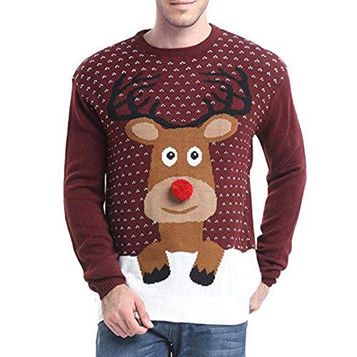Heren Truien Mode Trendy Kerst Persoonlijkheid Grappige Casual Gebreide Truien Straat Hiphop Kleding