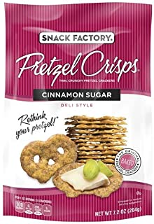 Snack Factory Pretzel Crisps, Cinnamon Sugar (Pack of 2)