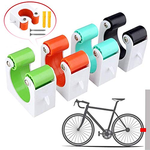 CCRTC Bicycle Parking Buckle Parking Rack Wall Hook Portable Bike Clip Indoor Outdoor Wall Mounted Bicycle Rack Storage System for Space Saving