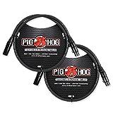 Pig Hog PHM3 - Cable de micrófono de grado turístico (8 mm, XLR, 3 pies),...