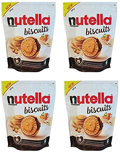 Nutella Biscuits Sachet de 22 Biscuits 304g (lot de 4)
