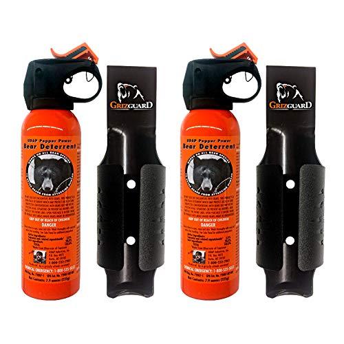 UDAP - 7.9 oz. (2 pack) Bear Pepper Spray Deterrent W/ Griz Guard Holster Incl. For Outdoors -...