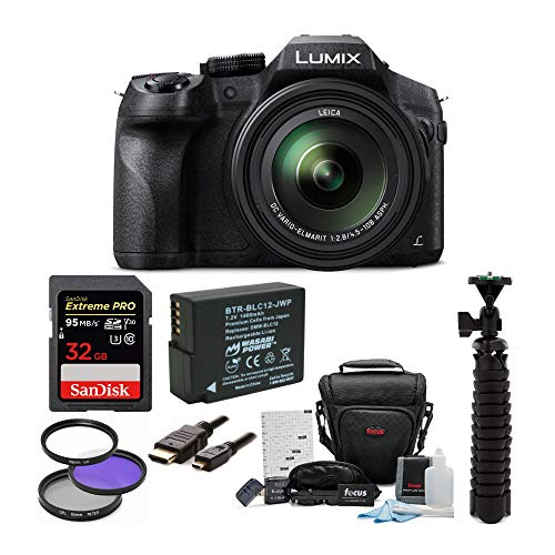 Panasonic DMC-FZ300K Digital Camera with 32GB SD Card and Accessory Bundle