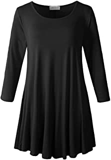 LARACE Women's 3/4 Sleeve Tunic Top Loose Fit Flare T-Shirt