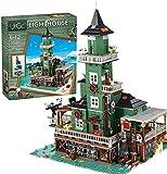 Modelo de bloque de construcción de casa modular, 3452 piezas, Tienda de pesca antigua, Bloques de construcción de abrazaderas, arquitectura, juego de construcción personalizado, compatible con LEGO 2