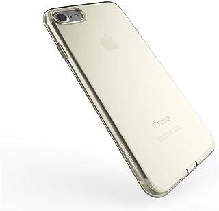 كفر ايفون 7 بلس مطاطي شفاف اللون ذهبي