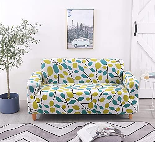 ASCV Blad mönster spandex soffskydd stretch L-format snitt skydd Loveseat fåtölj soffskydd för vardagsrum A9 1-sits