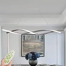ZHANG NAN Lámpara Colgante LED de Techo Regulable con Control Remoto Lámpara Colgante Lámpara de araña de diseño Espiral Moderno Creativo Mesa de Comedor Sala de Estar Iluminación de Oficina