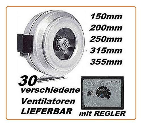 Uzman-Versand 100mm Industrie Kanallüfter mit 500W Drehzahlregler Rohrlüfter Kanal Rohr Lüfter Gebläse Ventilator Kanalventilator Rohrventilator