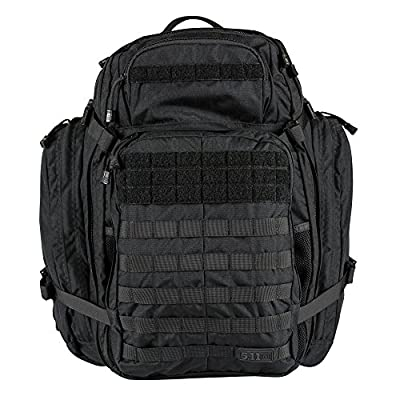 5.11 Rush USA 3-Day Tactical Backpack with Codura Nylon, MOLLE, Sunglass/Gadget Pocket, Hydration Pack Pocket - Style# 56361 - Black