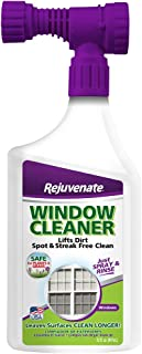 Rejuvenate High Performance Outdoor Window Spray and Rinse Cleaner with Hose End Adapter Instantly Removes Grime and Dirt ...
