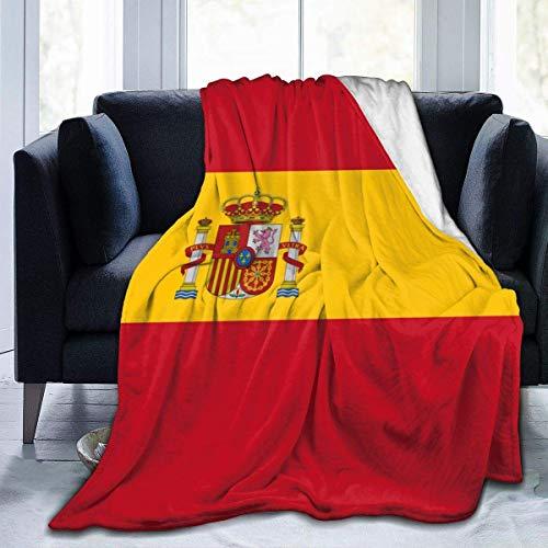 LOVE GIRL Manta de Franela Personalizada con la Bandera de España, Manta de Microfibra Ultra Suave para sofá Cama, sofá