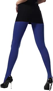 Microfiber stretchy Cotton Crotch Opaque Solid Color Footed Pantyhose Tights