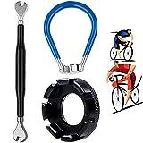 XCOZU - Juego de 3 herramientas para radios de bicicleta, llave de radios de bicicleta, llave de radios de bicicleta, kit de radios de bicicleta, herramienta correcta, calibre 10-15 (negro y azul)