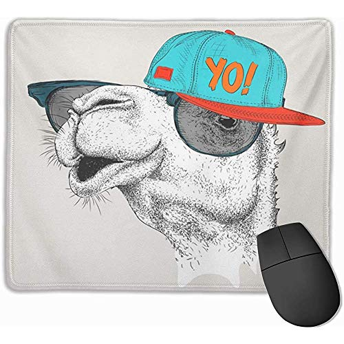 Gaming Mouse Pad, Maus Matte Wüste The of Camel In Brille Hip Hop Hut Sonnenbrille Africa Animal Caravan Club