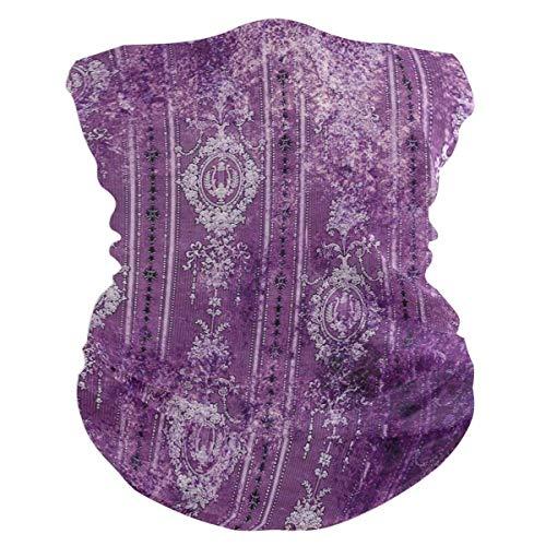 Trista Bauer Pasamontañas Púrpura Vintage Floral Ilustración Pasamontañas Mujeres Diadema Bufanda Hombres Versátil Bandana, Silenciador, Sombreros Sombreros