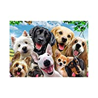 Qalabka パズル 1000ピース ジグソー 動物の楽園 動物の動員 教育玩具ギフト 犬のパズル(約69 x 51 cm)