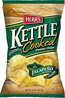 Herr's Potato Chips, Kettle Cooked Jalapeno 1.125 Oz. (Pack of 30)