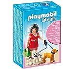 Playmobil Woman with Puppies - Kits de Figuras de Juguete para niños (3 año(s)