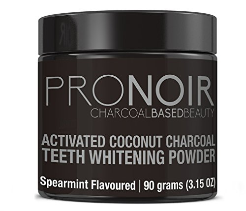Activated Charcoal Natural Teeth Whitening Powder Kit Wintermint Flavour by Fiery Youth - Organic Coconut Charcoal Powder, Removes Coffee Cigarette Stains, Works Well with Toothpaste (Wintermint)