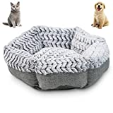 Pet Craft Supply Soho Round Machine Washable Memory Foam Comfortable Ultra Soft All Season Self Warming Cat Kitten Puppy Small Dog Bed, grey (2172)