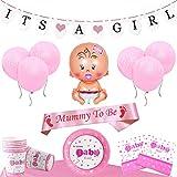Baby Shower Decoration Set - Pour un Its a Girl Fille Fête (24 Personnes)