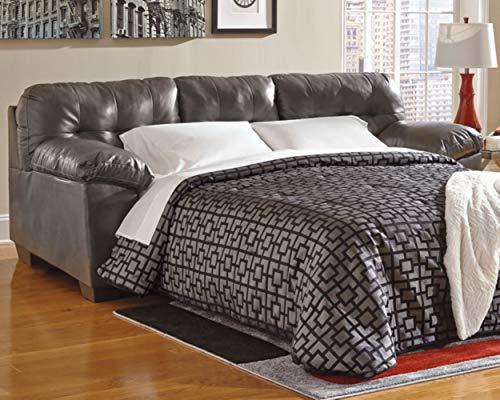 Signature Design by Ashley - Alliston Contemporary Sleeper Sofa - Queen Mattress, Gray