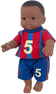 HoneyGod African Black Baby Doll - 11.81Inch/30 cm Football Baby Doll Cute Interactive Games Toys for Toddler Boys Girls