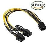 Maibahe 【2 Pack】 Carte d'Extension PCI-E 6 pin PCIe to 2 x PCIe 8 (6 + 2) Broche Câble d'alimentation Carte Graphique PCI-e...