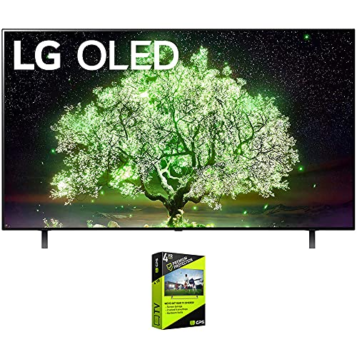 LG OLED55A1PUA 55 Inch OLED TV (2021 Model) Bundle with Premium 4 Year Extended Protection Plan