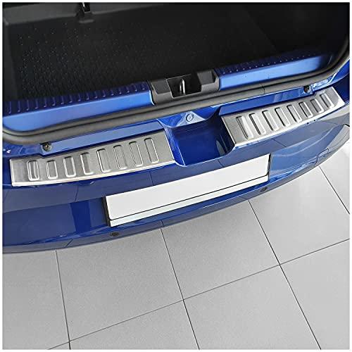 tuning-art L441 Protection de seuil de Coffre Chargement pour Dacia Sandero 3 / Stepway 3, Couleur:Argent