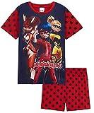Disney Miraculous Ladybug Pijama Niña, Pijama De Algodon Corto para Niñas, Regalos para Niña De La Prodigiosa Ladybug (Rojo, 5-6 años)