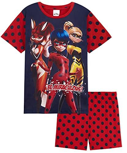 Disney Miraculous Ladybug Pijama Niña, Pijama De Algodon Corto para Niñas, Regalos para Niña De...