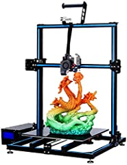 90% pre-assembled 3d printer, dual Z-axis motors and dual Y-axis tracks, supply eccentric nuts to fasten the X/Y/Z pulleys or carriages, make the movement more stable and accurate  Titan direct extruder and dual fans to cool the hot end, make the ex...