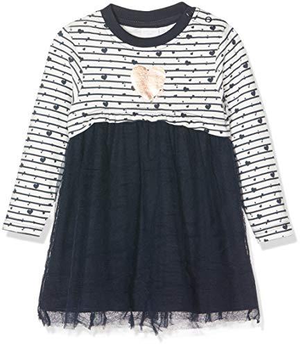 Schiesser Baby-Mädchen Kleid Strickjacke, Blau (Dunkelblau 803), 74 (Herstellergröße: 074)