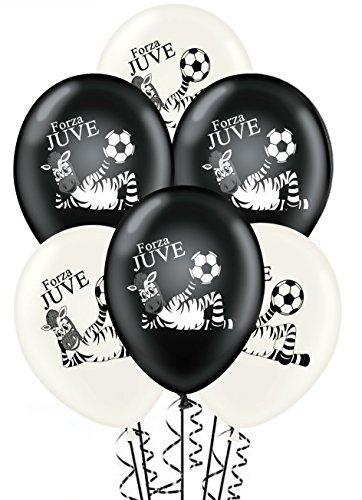ocballoons Palloncini Bianco Nero Forza Juve Compleanno