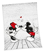 XXL flojel techo Disney Mickey Mouse Minnie Mouse Manta–Manta (150x 200cm, microfibra flojel, Nuevo de Herding