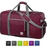 28' Foldable Duffle Bag 80L for Travel Gym Sports Lightweight Luggage Duffel By WANDF (28 inches (80 Liter),...