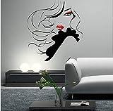 57X63Cm Pin Up Girl Women Modern Hair Salon Wall Sticker Decal Mural Transfer-C...