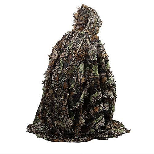 DGdolph Poncho-Mantel, Camouflage-Blatt, 3D-Kostüm, Tarnmuster, für den Außenbereich