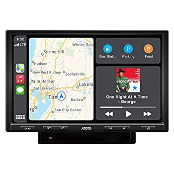 ATOTO F7 Pro F7G210PE Double-DIN in-Dash Video Receiver - CarPlay&Android Auto Receiver with Bluetooth Phone Charge,Phone Mirroring  Auto Link ,USB/SD Playback  Read up to 2TB Storage   10in,DAH10D