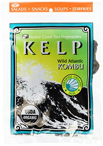 Sugar Kelp 'Atlantic Kombu' Whole Leaf | 2 oz Bag | Organic Seaweed | Maine Coast Sea Vegetables