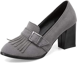 BalaMasa Womens APL12334 Pu Block Heels