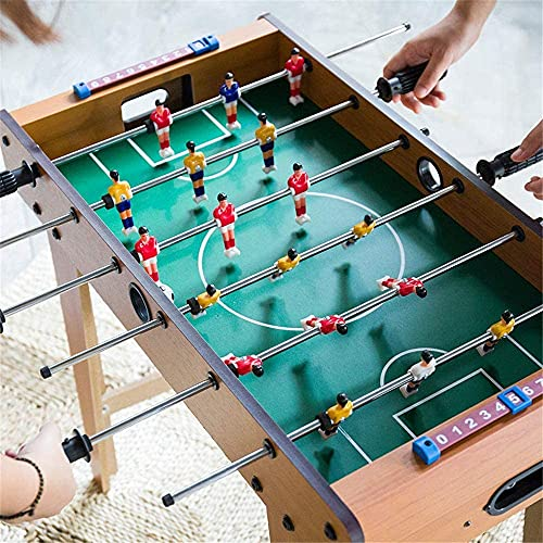 Glan Foosball Table Indoor Soccer Game with 2 Balls, Foosball Table for Adults & Kids Play at Home, Office, Club & Cafe