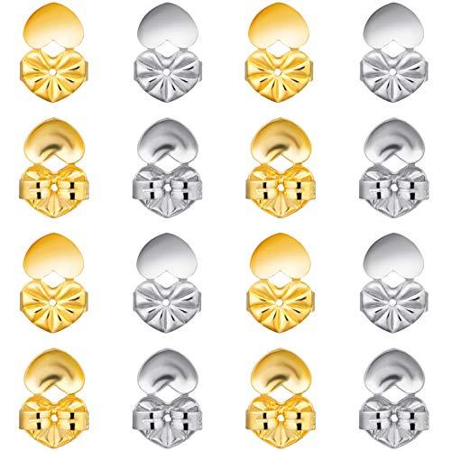 8 pares de pendientes ajustables y seguros, hipoalergénicos, mágicos, para levantar pendientes
