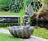 HH Home Hut Garden Ornament Fountain Water Feature Fairy Angel LED Statues Decor
