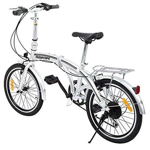 Ridgeyard Bicicleta Plegable 20 Pulgadas de 6 velocidades Bici Plegable Folding Bike...