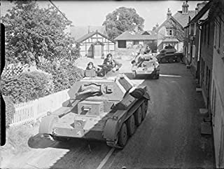 Home Comforts The British Army in The United Kingdom 1939-45 A Column of Cruiser Mk IV Tanks of 3rd Royal Tank Reg Vivid Imagery Laminated Poster Print 24 x 36