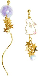 Libaraba Cute Copper Zirconia Accent Rabbit Stud Earrings with Heart Jewelry Box,Rabbit Earrings for Women